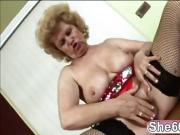 Mature blonde pussy hard blowjob