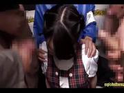 Jav Idol Abe Mikako Gets Gang Bukkake