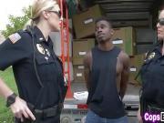Horny Female cops love riding criminals dicks