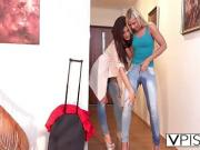 Caprice And Angel Enjoy Using Dildo In Bedroom