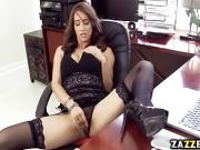 Isis Loves milf stretch pussy pound from behind