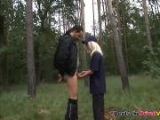 Blonde German slut fucked in the nature