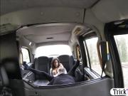 Huge tits passenger drilled in the taxi to off her fare