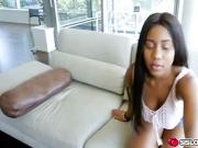 Jenna Foxx blackmailed by horny step bro