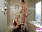 Beauties Charlotte and Gia in lesbo act