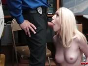 Tiny thief Joseline begs and fucks for freedom