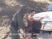 Cop arrests hooker Frida grabbed hold of the agent's big