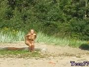 Erotic wrestling sex Linda gets naked on the beach