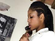 Ebony Christy Pisses On Her Behalf Stockings