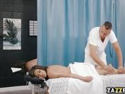 Danny enters and starts rubbing down Shay's sexy naked body