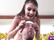Lucky boyfriend gets a surprise birthday orgy