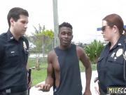 Ebony police and milf having fun 1 xxx Black suspect taken