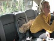 Big tits blonde passenger anal smashed in the backseat