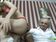 Old fart enjoys fucking a cheap whore