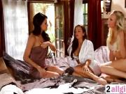 Abigail Mac and Natasha Voya hot massage