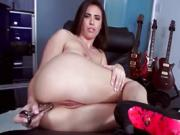 Sally chose to be all alone with her pussy and a dildo