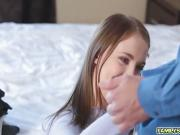 Stepdad secretly sniffing Chloe Scott's panties