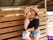 Hot country lesbian babes licking their pussies