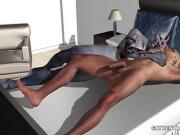 3D stud fucked in the ass by a zombie