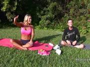 After yoga outdoor Milf bangs indoor