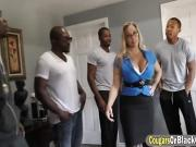 Big titted MILF gets fucked hard by BBCs