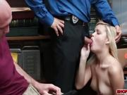 Blonde babe Madison gets a hot sex from a horny cop