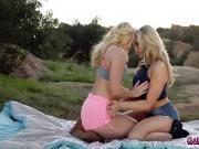 AJ passionately kisses Mias gorgeous rump