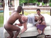 Euro slut Stasia Bond double penetrated by black boners