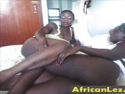 African lesbian couple Winnie and Pauline in hot action