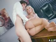 Hot secretary Kylie Page pounded in the office