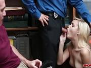 Shoplifter babe Madison punished in front of bf