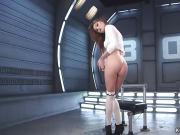 Stunning ass brunette fucking machine