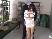 Horny asian babe Arisa Misato get fuck by the janitor