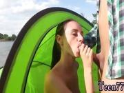 Blowjob only twerking Eveline getting torn up on camping