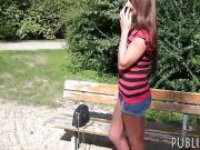Cute Czech babe gets fucked doggystyle in the woods