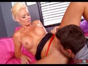 Blonde Cougar wants Security Guard dick