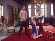 Blonde anal punished by couple in the upper floor
