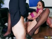 Raven Bays thick ass lifted and fucks her anal