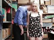 Big fat dick disappears in blonde girl