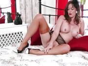 Kinky naughty nylon heel garter Milf