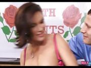 Horny Big Titty MILF on set