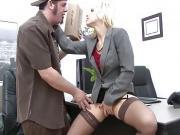 WANKZ- Joey Gets A Crack At Boss Ashley Fires' Crack