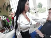 Simone Garza Gagging on Stepson's Cock