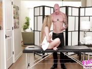 Latina slut Moka Mora gets a massage and a hard fuck