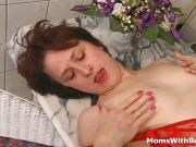 Two MILFs Plays With Cock And Kitchen Utensils