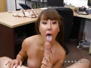 Tiffany Rain looks hot during titty fuck