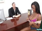 Busty Ebony Codi Bryant Takes It Raw