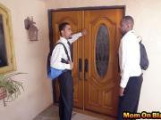 Black guys pounding busty milf