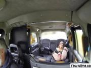 Damn horny lady Rhiannon gets a free hot sex in the taxi