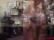 A sexy waitress fucked in the pawnshop